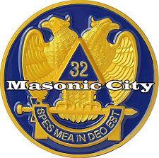 A-323 Scottish Rite Masonic 32nd Degree Auto Emblem Car Lodge Mason Freemason 32
