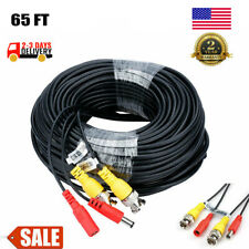 65FT Security Camera Video Power Cable BNC Wire Cord For CCTV DVR NVR System Set