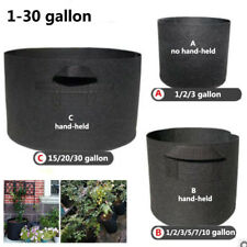 Fabric Raised Garden Bed Round Planting Container Grow Bags Breathable Felt Pot