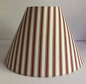 Striped Lampshade Maroon And Cream Colors
