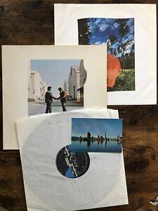 Pink Floyd -  Wish You Were Here A3 B3 Postcard 2nd German Press  Ex++/NM- Vinyl