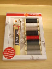 Gutermann Threads-9pc Sew All Thread Collection with Textile Glue-100m Reels