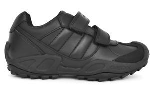 Geox Savage Boys Black School Shoe