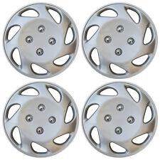 "Hub Cap Abs Silver 14"" Inch Rim Wheel Skin Cover Center 4 pc Set Caps Covers (Fits: Saturn)"