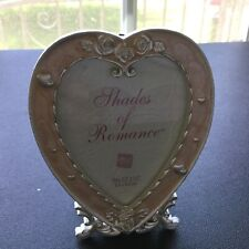 """Heart Shaped Frame Pink With Crystal Accents 3 X 4 1/2"""""""