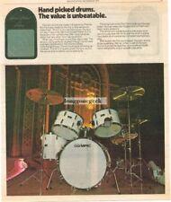 1977 Ampeg Olympic Drum Kit Vtg Print Ad