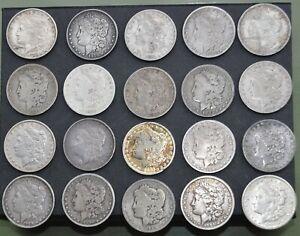 SUPER 20-PIECE MORGAN SILVER DOLLAR SET SEQUENTIAL DATES NO DUPLICATE 1878-1921!