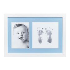 Baby Made Photo Frame Inkless Baby Foot or Hand Print Kit 8 X 12 Baby Keepsake White