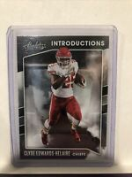 2020 Absolute Football Introductions Clyde Edwards-Helaire RC Insert Card #I-CEH