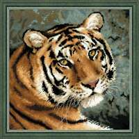 RIOLIS COUNTED CROSS STITCH KIT Siberian Tiger Embroidery Needlework Handmade