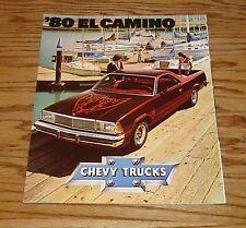 Original 1980 Chevrolet El Camino Foldout Sales Brochure 80 Chevy