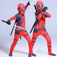 X-Men Deadpool Wade Kids Tight Jumpsuit Halloween Boys Tights Bodysuit Costume