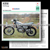 #080.13 SUZUKI TS 250 SAVAGE (CROSS) 1975 Fiche Moto Motorcycle Card