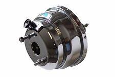 "8"" Chrome Dual Diaphragm power brake booster Hot Rod Street Rod Rat Rod NEW PB09"
