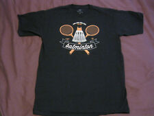 Teefury Batman Batminton T-Shirt Men's Medium Navy Blue Pre-Owned
