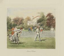 """C.1950's Etching """"Lawon Tennis"""""""