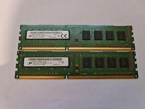 8GB ( 2 x 4GB ) PC3-12800 DDR3-1600 MHz NON ECC RAM Micron MT8JTF51264AZ
