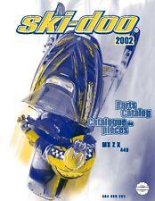 Ski-Doo parts manual catalog book 2002 MX Z X 440
