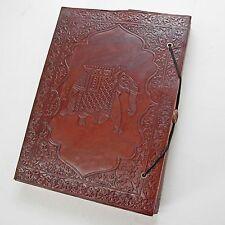 Lederbuch Kladde Notizbuch Tagebuch Buch Elefant Leder Indien XL 26 x 19cm