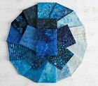 Boundless Batik High Tide Ocean Blue Cotton Fabric Charm Pack 5