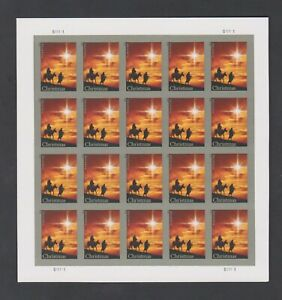 2013 US Forever 4813a Holy Family And Donkey Imperf Pane of 20 Without Die Cuts