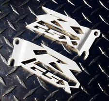 Suzuki GSXR Cut-Out Heel Guards / Ankle Plates GSX-R 600 750 1000 - White