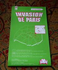 Space Invader Paris Invasion Map nouvelle ONU signé Imprimer 13 Kit 14 15