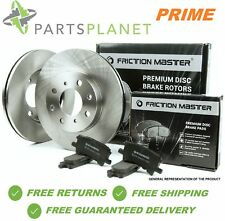 Front Brake Rotors Semi-Metallic Pad 2006 2007 2008 2009 VW JETTA SEDAN TDI 2.5L