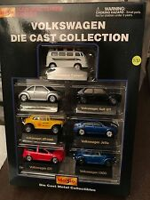 RARE MAISTO MANUFACTURER SERIES VW SET NEW BEETLE GOLF GTI CABRIOLET JETTA VAN