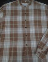 Armani Jeans Mens Button Front Long Sleeve Designer Cotton Plaid Shirt Medium M