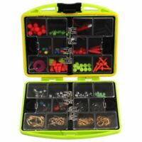 Full Loaded Fishing Tackle Box 24 Compartments Hook Spoon Water-resistant Swivel