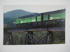 Burlington Northern EMD F9 #814 Covered Wagon Hungry Horse MT Train Postcard