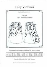 Truly Victorian sewing pattern TV363 for 1887 old west summer overskirt NEW