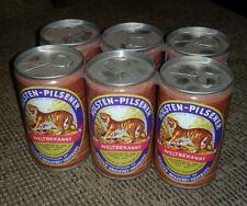 Six Pack Holsten Pilsener beer can lot of 6 germany German alcohol pull-tabs