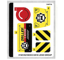 LEGO City 60186 City Mining Heavy Driller STICKER SHEET