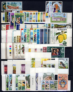 ST. VINCENT QE II 1969 to 1977 An Almost Complete Collection MNH & MINT