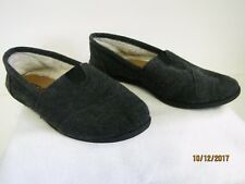 EUC Soda Object Ladies Dark Gray Slip-on Canvas Linen Flat Casual Shoes Size 5