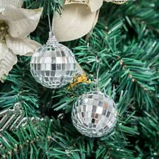 """6 pcs 2"""" Silver Glass Hanging Disco Mirror Balls Party Wedding Decorations SALE"""