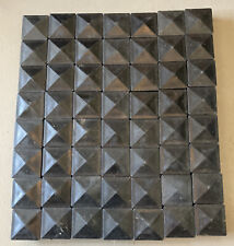 "Lot 56 - 2""x2"" Plastic Fence Plug End Cap Tube Post Square Pyramid Cover Insert"