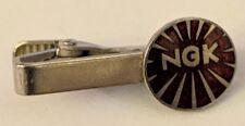 Vintage NGK Spark Plugs Tie Bar Clip Logo Automobile Fashion Accessory