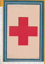 A687 American Red Cross 1919 paper sign medical aid post WW 1