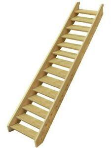 Ezistep Pine Stair Kit Timber 14 Step For Vertical Height of 2400mm