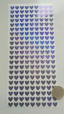 Purple Hearts - Glitter Holographic Sparkle Waterproof Stickers Decals 10mm