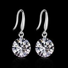 Crystal Elegant 925 Sterling Silver Women Rhinestone Ear Stud Earrings