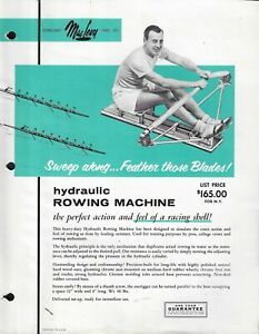 1950's MacLevy Rowing Machine & Massage Aid Priced Advertising Sheet