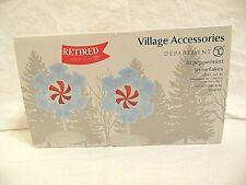 New Department 56 Village Accessories Lit Peppermint Snowflakes lights 6001712