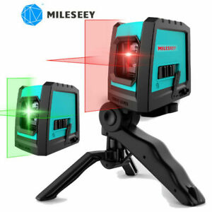 MiLESEEY Laser Level, Green / Red Beam Home DIY Cross Line Level Self Leveling
