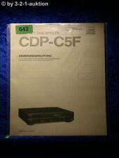 Sony Bedienungsanleitung CDP C5F CD Player  (#0642)