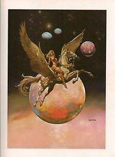 "1978 Full Color Plate ""Golden Wings"" by Boris Vallejo Fantastic GGA"