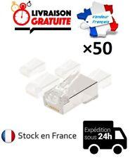 LOT DE 50 CONNECTEURS RJ45 8/8 CAT5 RESEAU NEUF